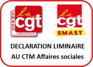 Déclaration liminaire au CTM du 18 mai 2021